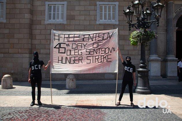 В Барселоне протестуют против заключения Олега Сенцова (фото)