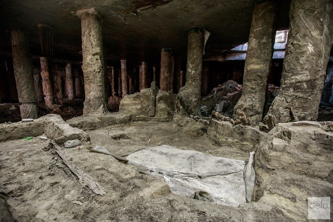 Рада поддержала музеефикацию раскопок на Почтовой площади