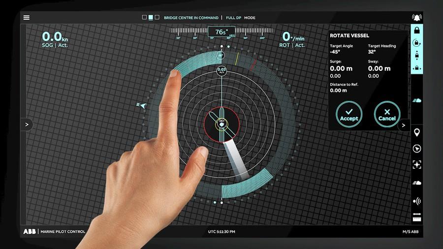 Cистема динамического позиционирования ABB AbilityTM Marine Pilot Control
