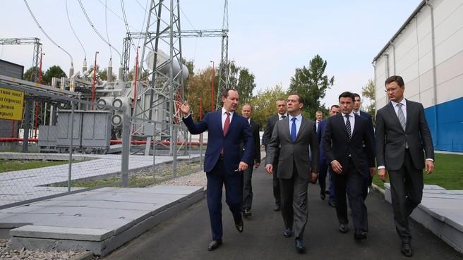 Председатель Правительства РФ посетил цифровой район электросетей Подмосковья