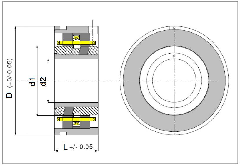 Изображение резольвера серии RE в разрезе