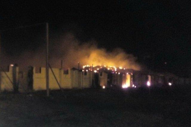 Под Харьковом горят зерносклады (фото)