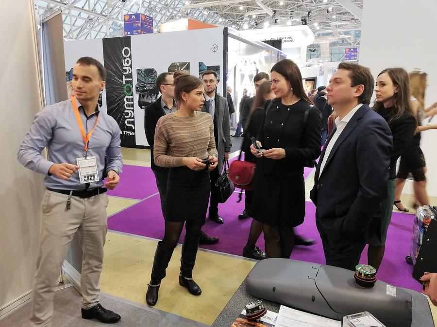 Андрей Чибис посетил стенд «АйТи Умный город» на Interlight Moscow
