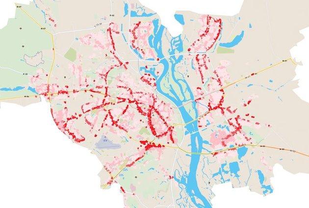 В Киеве создали карту шумового загрязнения города
