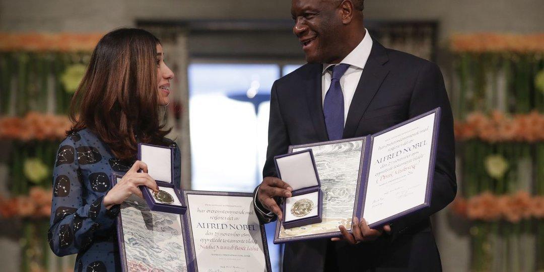 Нобелевскую премию мира вручили хирургу из ДРК и правозащитнице из Ирака