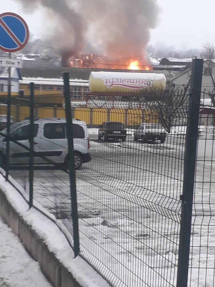 В Тульчине горел маслозавод