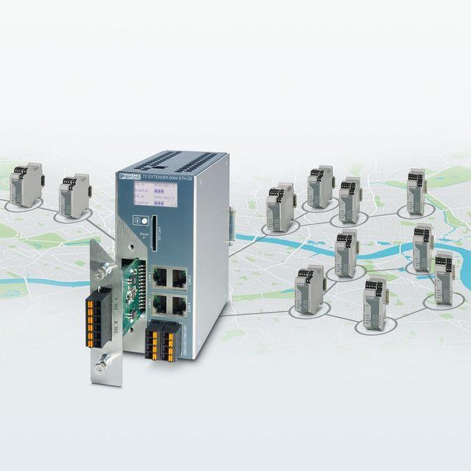 Phoenix Contact представляет расширитель Ethernet с интеллектуальной защитой от перенапряжений