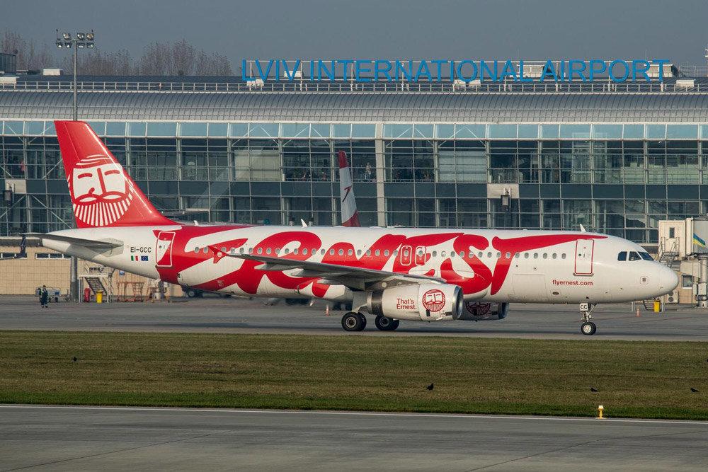 Как Ernest Airlines будет летать во Львов после 1 апреля