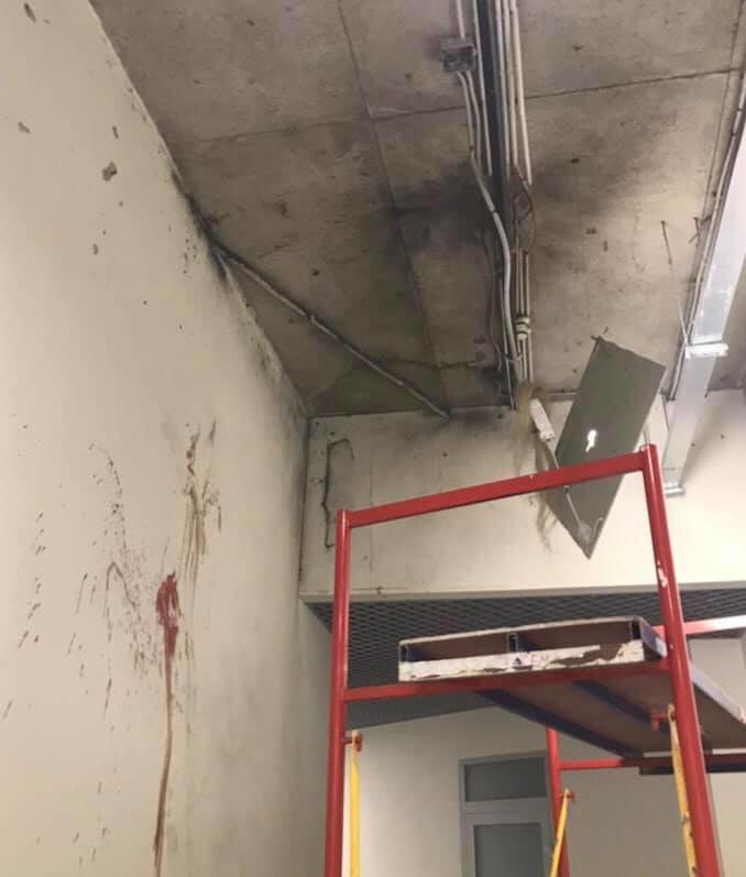 В торговом центре Киева во время ремонта прогремел взрыв