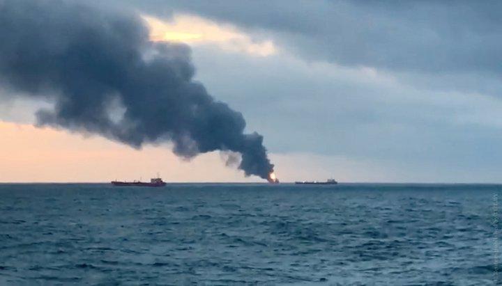 Загоревшиеся в Керченском проливе суда незаконно перевозили газ в Сирию — МинВОТ